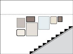 Treppenaufgang mit Bildergalerie