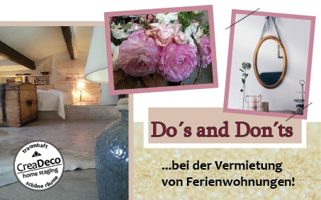 Do´s and Don´ts der Vermietung von Ferienimmobilien
