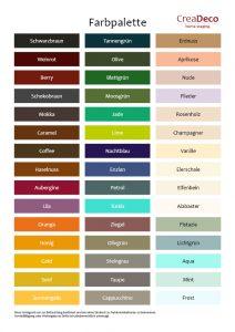 Farben für Zuhause wohnen