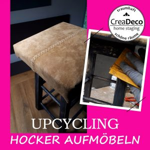 upcycling hocker mit Lederbezug