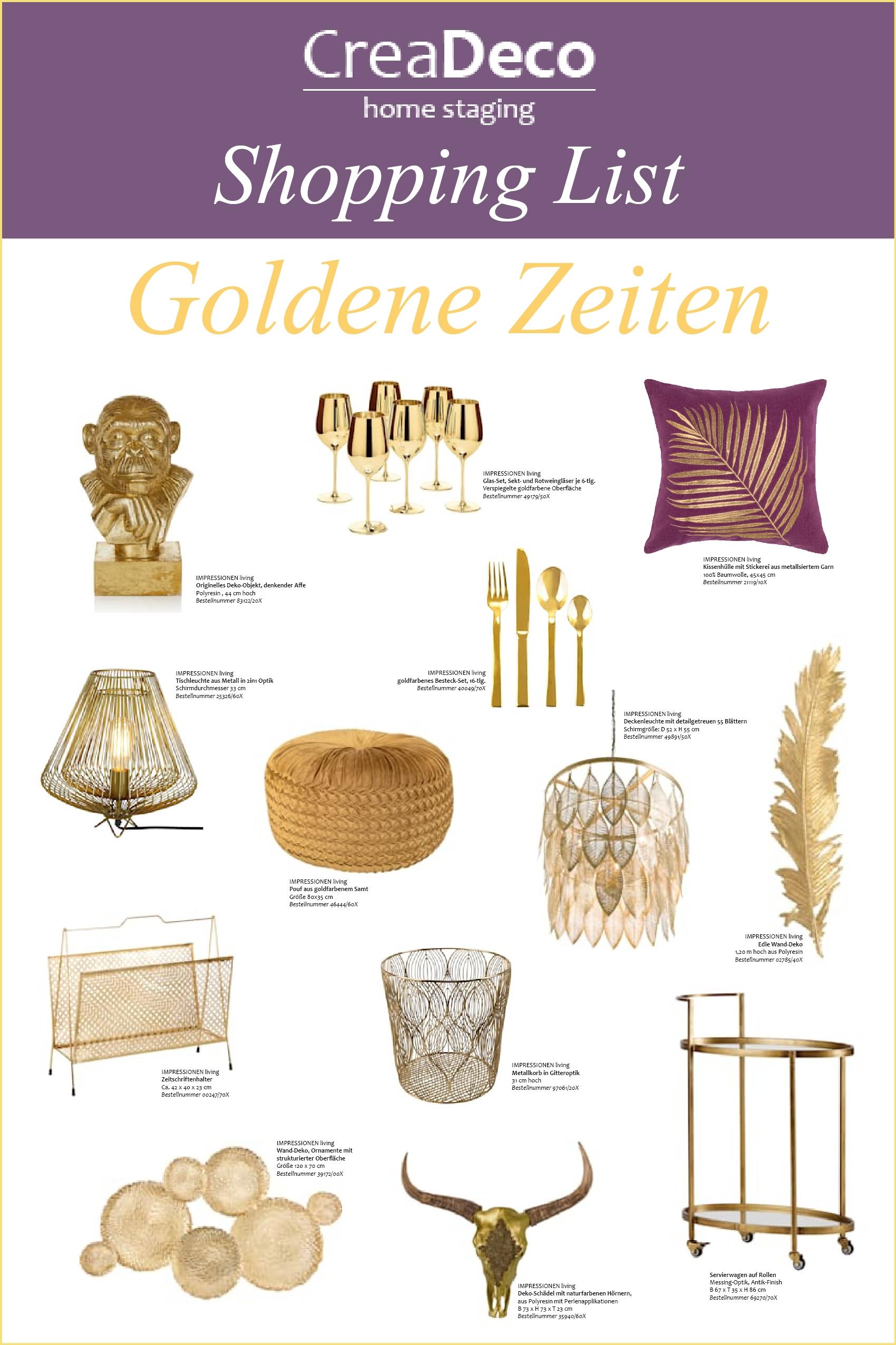 Gold, silber oder kupfer! Zeig mit all dem Glamour deine Persönlichkeit.