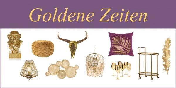 goldene einrichtungsgegenstände
