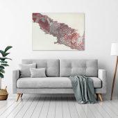 Bild Kunst pink und silber