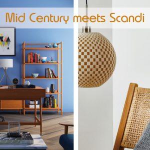 wohnen nach Scandi und Mid Century Stil