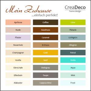 Farbpalette Pastell Farben