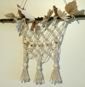 DIY Makramee Herbstlaub aus Papier falten