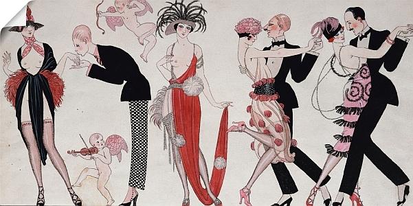 Art Deco wandbild Georges Barbier