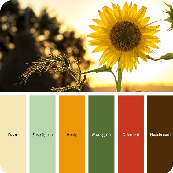 Farbpalette 60er Jahre Wohnstil