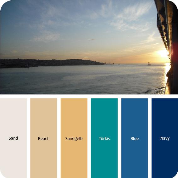 Farbpalette maritimer wohnstil