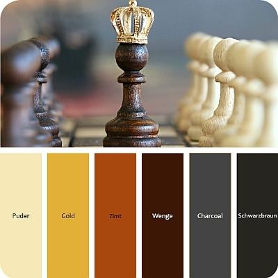 farben für den steampunk stil