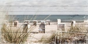 Holzbild Strand und Meer