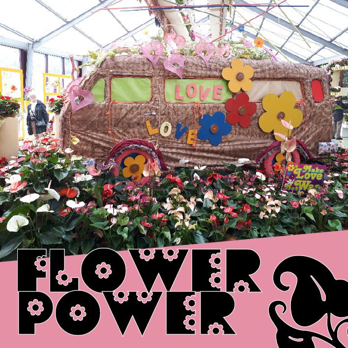 Flower Power Wohnungseinrichtung mit Blumen