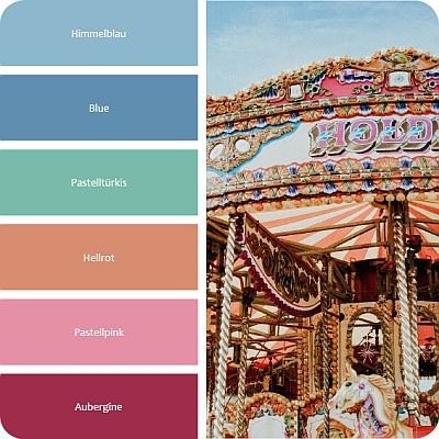 Farbpalette whimsical wohnstil