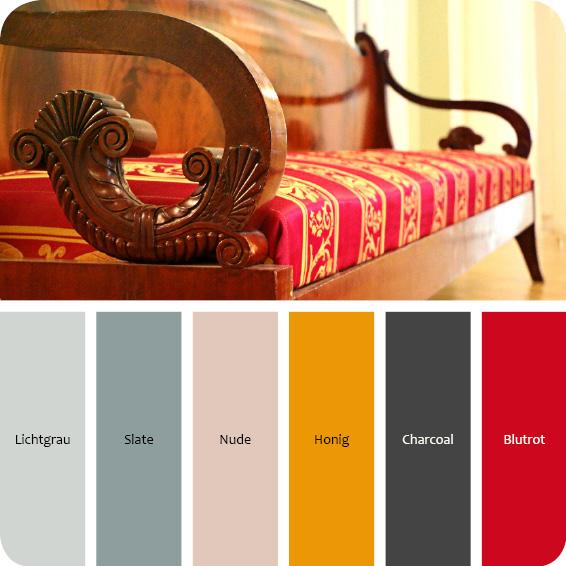 Farbpalette Glanz und elegant