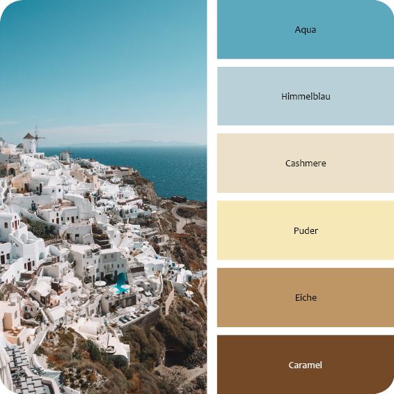 Farbpalette Mediterran einrichten wohnen
