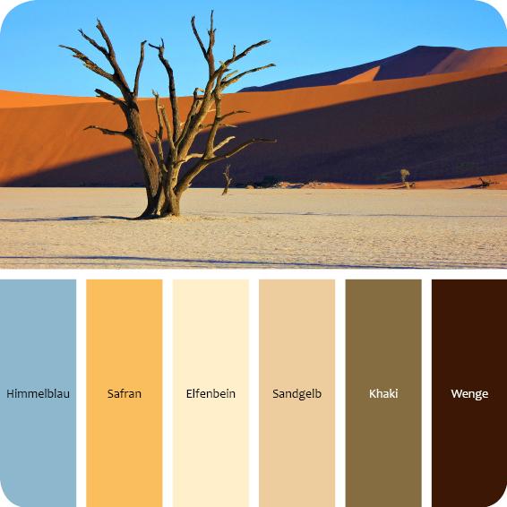 Farbpalette Afrika