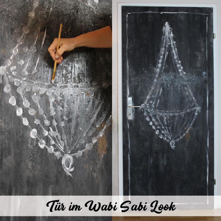 Wabi Sabi Kunst auf Zimmertür